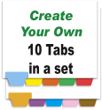 Create Your Own Index Tabs<br>10 Tabs per Set