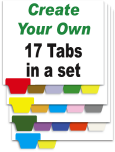 Create Your Own Index Tabs<br>17 Tabs per Set